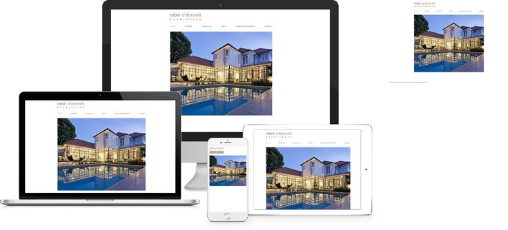 Forge Online creates yet another stunning example of contemporary and functionally powerful Open Source website design for Robin O'Donnell Architects.