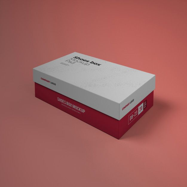Download Shoes Box Mockup With Editable Design Psd Box Mockup Flyer Design Templates Shoe Box