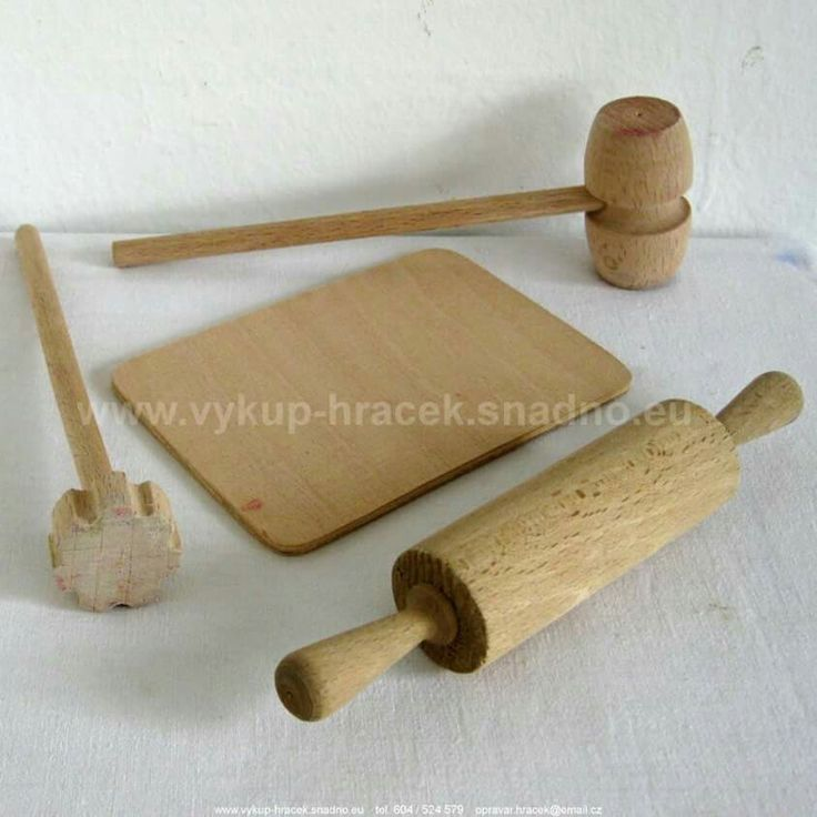 Wooden Kitchen Tools for Doll