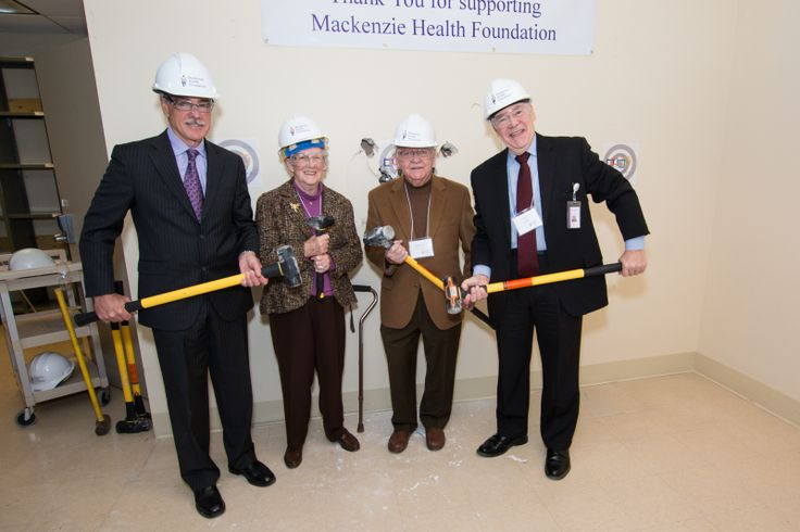 """Picture This campaign: Donors invited to kick-off renovations of new MRI suite with """"Smashing the Wall"""" event. January 16 2014"""