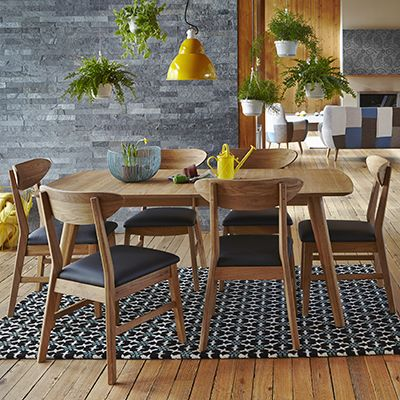 The Deakin Table & 6 Chairs - Extending Oak Dining Table