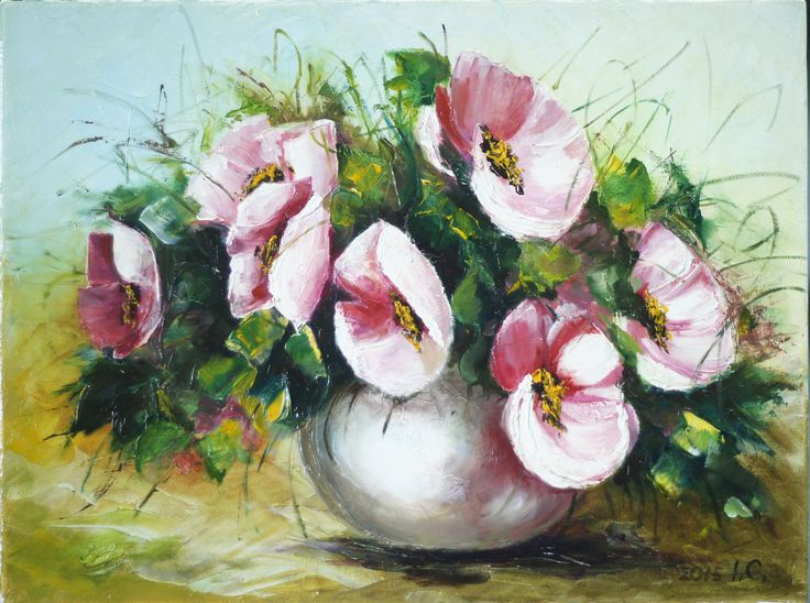 Flowers. Oil.