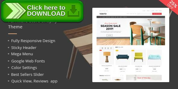 [ThemeForest]Free nulled download Verito Furniture Store Shopify Theme & Template from http://zippyfile.download/f.php?id=34859 Tags: best shopify template, furniture responsive theme, furniture shop, furniture shopify theme, furniture store shopify template, furniture store template, furniture store theme, furniture store website shopify, furniture theme, online furniture store theme, shopify furniture store