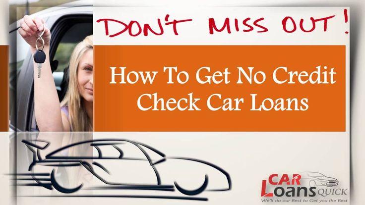 No credit check car loans