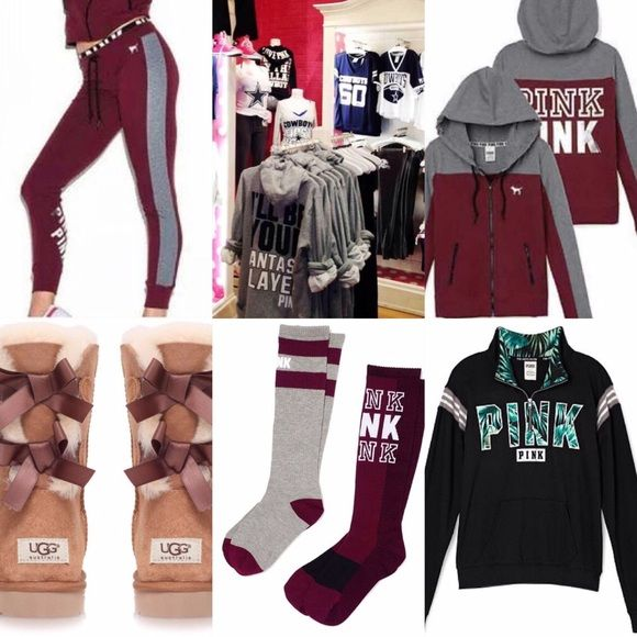 My ISO's! these are the things i am looking for and will trade for! I need an XS or Small and a kids 6 or women's 8 in the chestnut uggs! (: (the top middle picture is VS PINK Dallas Cowboys stuff!(: ) PINK Victoria's Secret Other