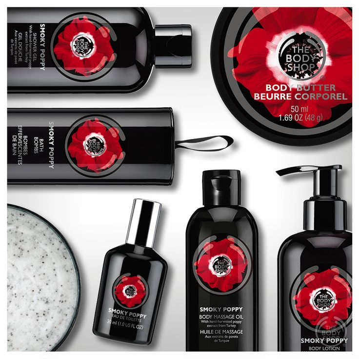 FACT: The Body Shop's sensual  Smoky Poppy‬ collection contains real, hand-picked poppy flowers from the Ankara region of Turkey: http://www.thebodyshop.co.za/store/list/category/smoky-poppy