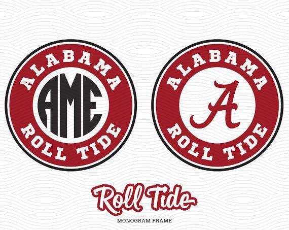 Alabama Roll Tide Monogram Frame Svg Eps Dxf Studio3 By