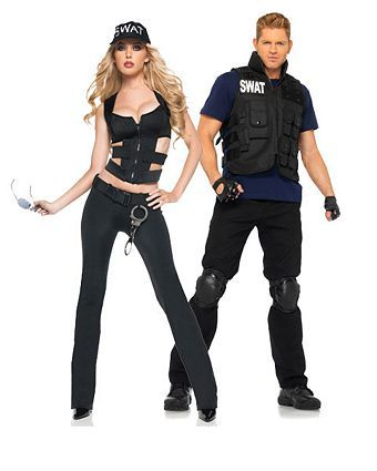 Sexy S.w.a.t Adult Costume | Wholesale Couples Halloween Costume for Women