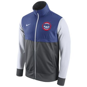Nike Chicago Cubs Royal/Gray Cooperstown Collection Track Jacket