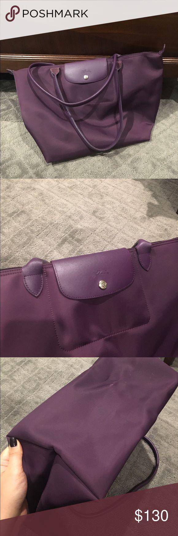 Longchamp Le Pliage Large Travel Bag In Myrtille   ReGreen Springfield ede5266b34