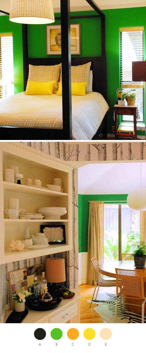 Kelly green interior design color living room room for Kelly green decor