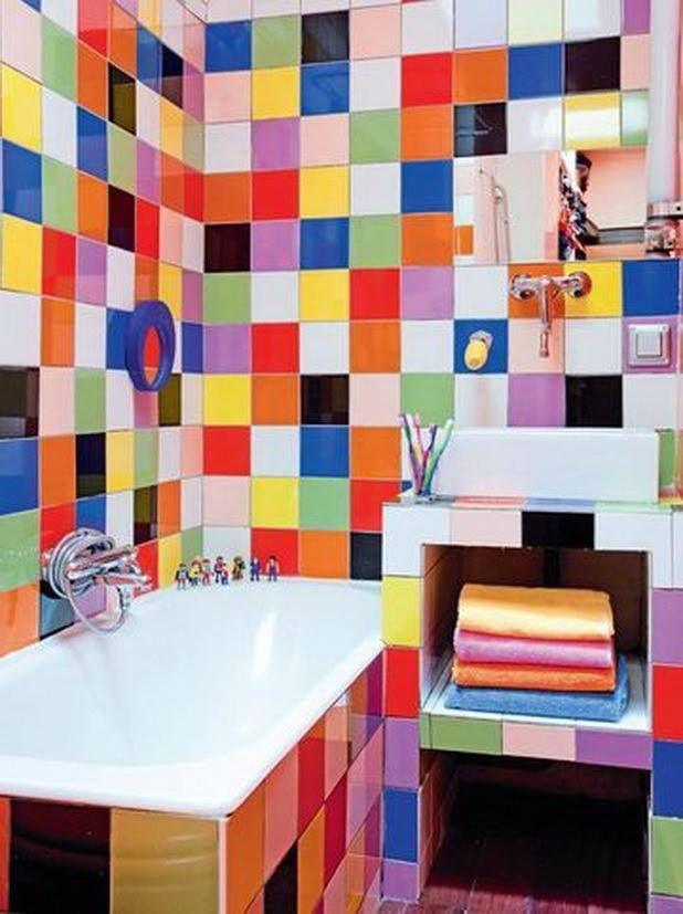 Les  Meilleures Images Du Tableau Salle De Bain Colore Sur