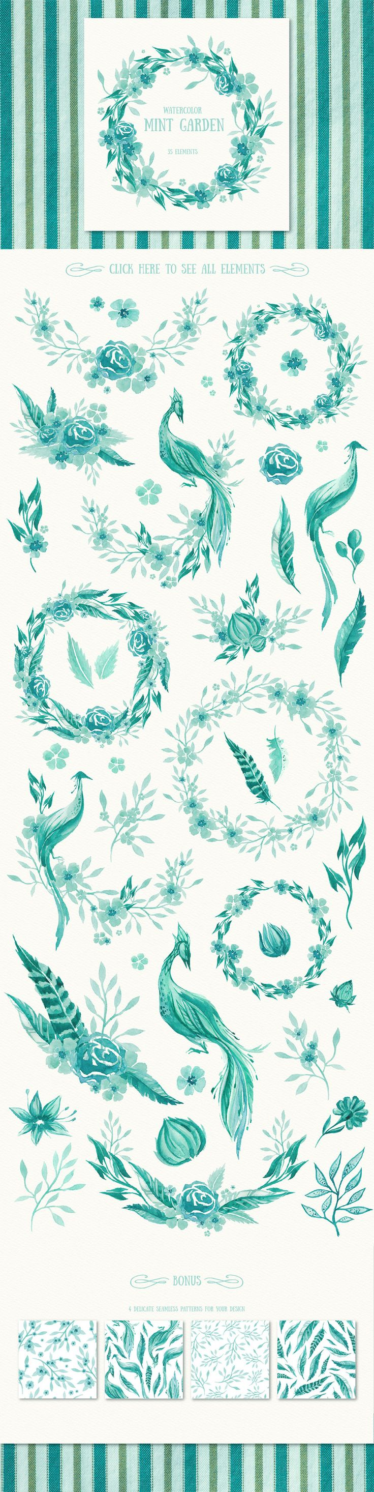 Gorgeous in Teal Graphic Illustrations for DIY Wedding Invitations - great for a rustic themed wedding {affiliate}