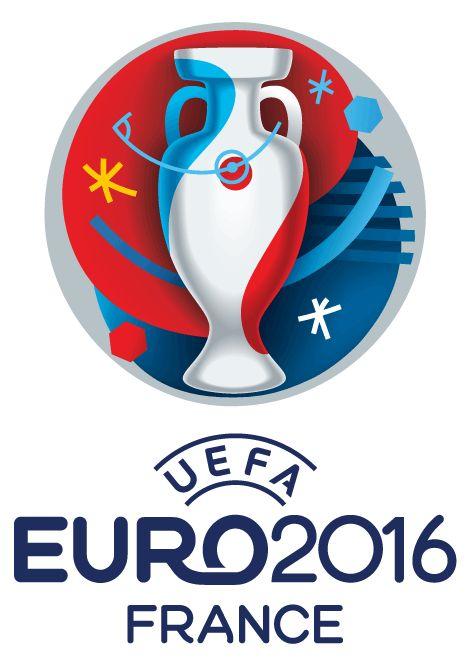 Logo oficial de la Eurocopa de Francia 2016 de fútbol en vector e imagen normal, con colores y letras oficiales; con la leyenda: UEFA Euro2016 France.