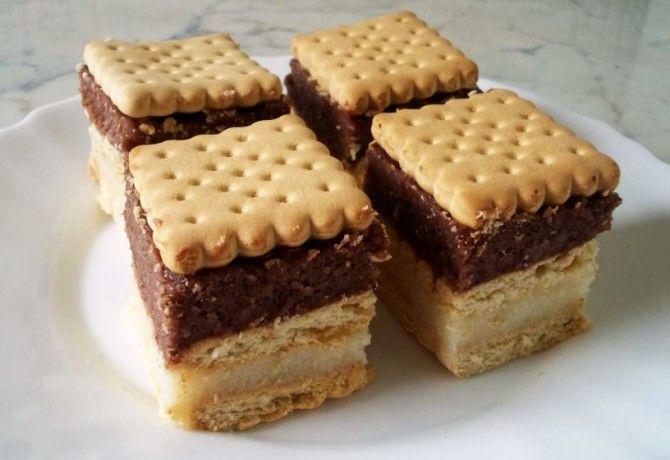 Tejbegrízes-kekszes süti