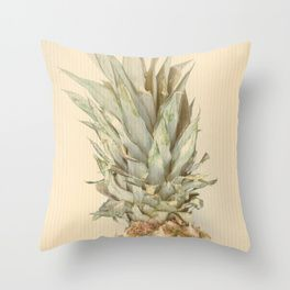 Pineapples On A Vintage Mood #decor #society6 Throw Pillow