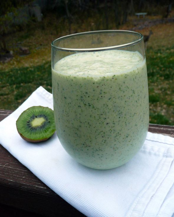 Tropical Kiwi Monster Protein Kale Smoothie (need zone adjustements)    1 kiwi, peeled  1 frozen banana, peeled and broken into chunks  1/4 cup frozen pineapple orange juice concentrate  1 scoop vanilla protein powder  1 cup fresh kale leaves  1 1/4 cups lowfat milk    Put blend all ingredients  till smooth. You could leave out the protein powder if you like. Or, for a lactose-free smoothie, substitute soy, coconut, or almond milk for the milk.