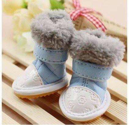 """Ботиночки для собак с мехом """"Зимние"""""""