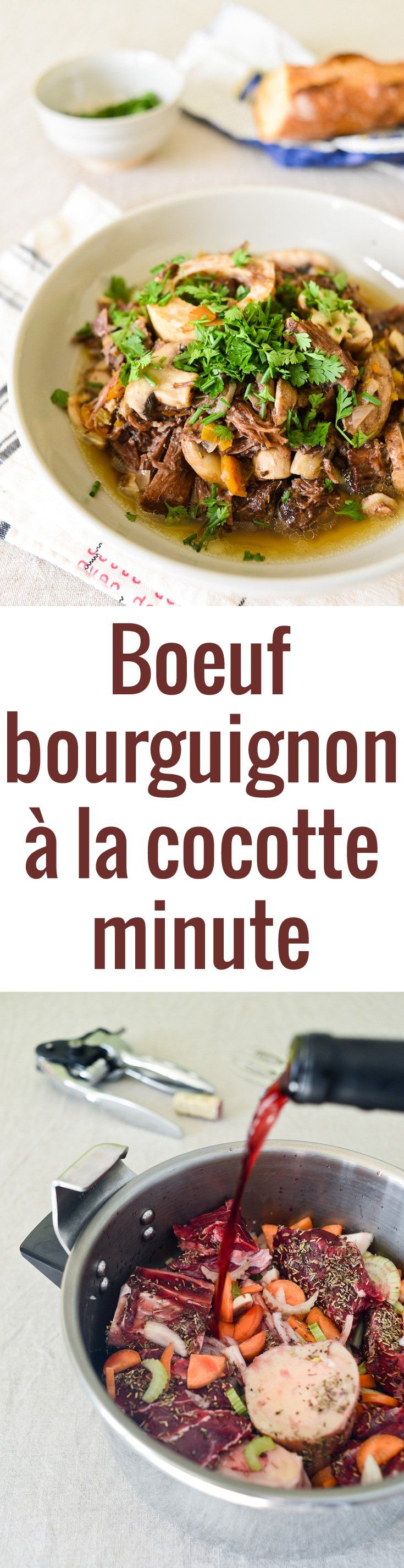 boeuf bourguignon la cocotte minute recipe boeuf. Black Bedroom Furniture Sets. Home Design Ideas