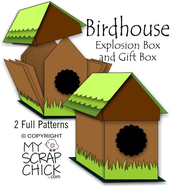 This Exploding Box Photo Album Is So Unique And Amazing: 19 Best Images About Birdhouse Card Box On Pinterest