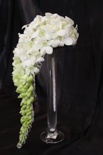 Flower cascade whites/green wedding flowers (any color combo you want)