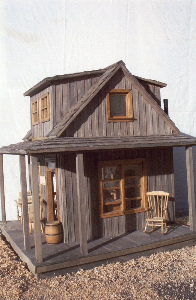 dollhouses wild west -so aged and realistic- live it - Louise Glass