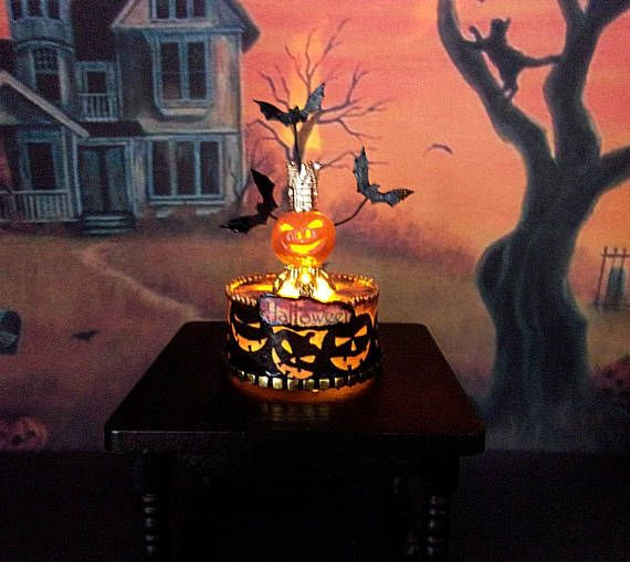 Halloween. LED candle. Dollhouse. Scale 1:12