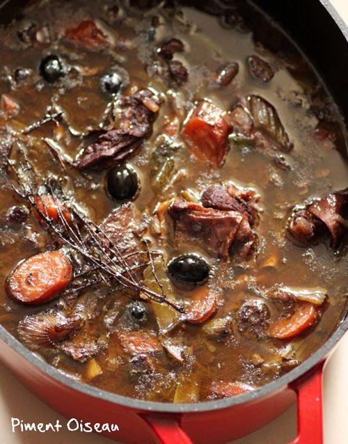 LaDaube provencal- slow cooking 7 hours beef stew