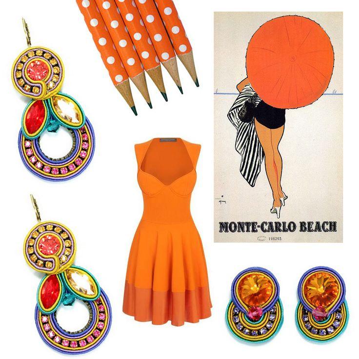 What's zesty orange, strawberry ice, custard yellow and totally looks delicious? Dori's Happy earrings!!! #DoriCsengeri #orange #colorful #ss2015 #resort #accessories #earrings #trends