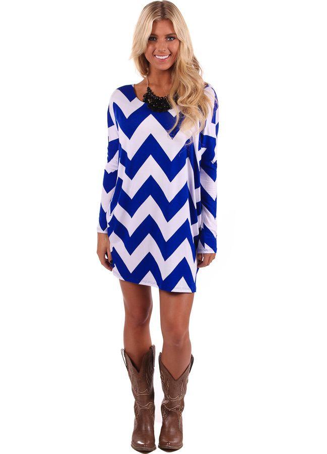 mura plus 3 dress blue chevrons