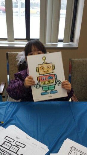 Robot Colouring Sheets - Blueprints!