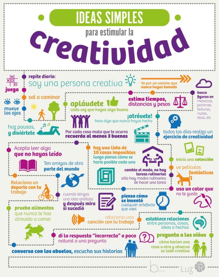 Estimula con ideas simples tu potencial creativo #infografia #marketing #creatividad