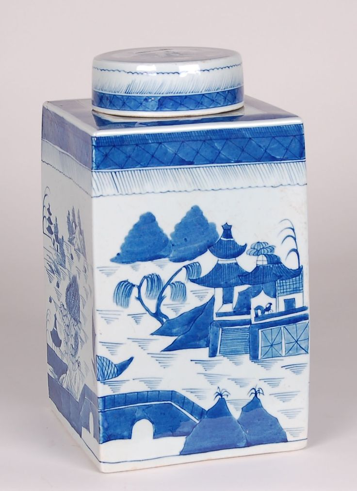 Blue and White Canton Tea Tin from The Well Appointed House