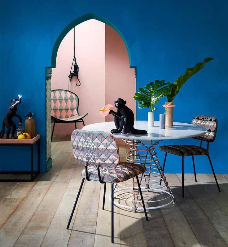 Atlas Dining Chair - Peach Multi