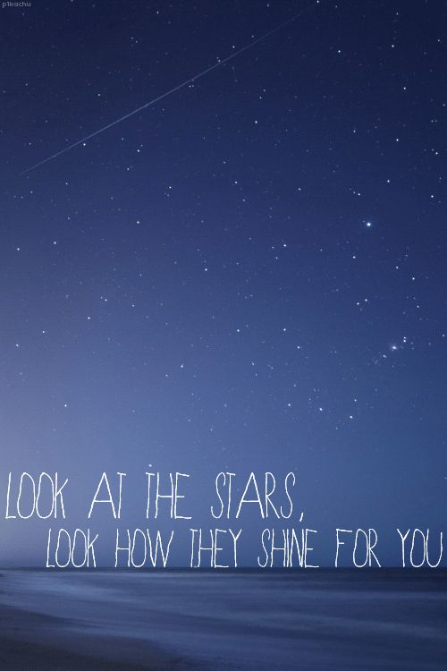 "Coldplay ""yellow"" This is what I think whenever there are stars in the sky... sometime I actually sing it :)"