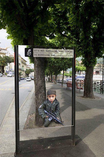 Iklan tentang tentara anak-anak