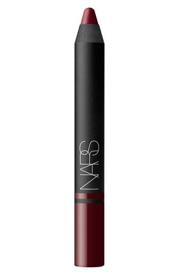 NARS Satin Lip Pencil in Palais Royal Anyone who knows me knows that I'm a Burt's Bees/Chapstick girl, however, I recently discovered that a bold lip color can be super easy and look great!  This is my current favorite!