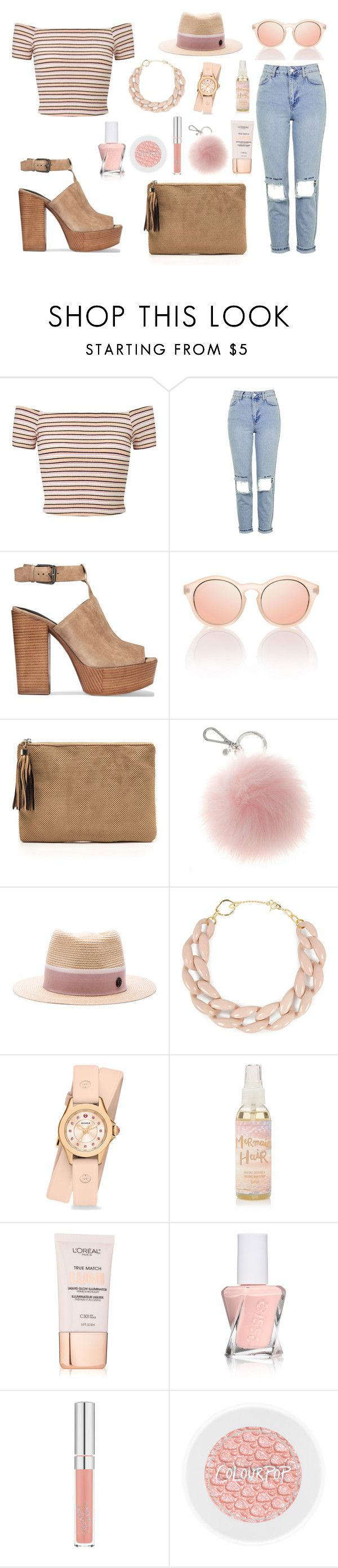 """Mariia"" by ballereyna ❤ liked on Polyvore featuring Miss Selfridge, Topshop, Rebecca Minkoff, Maison Michel, DIANA BROUSSARD, Michele, L'Oréal Paris and Essie"