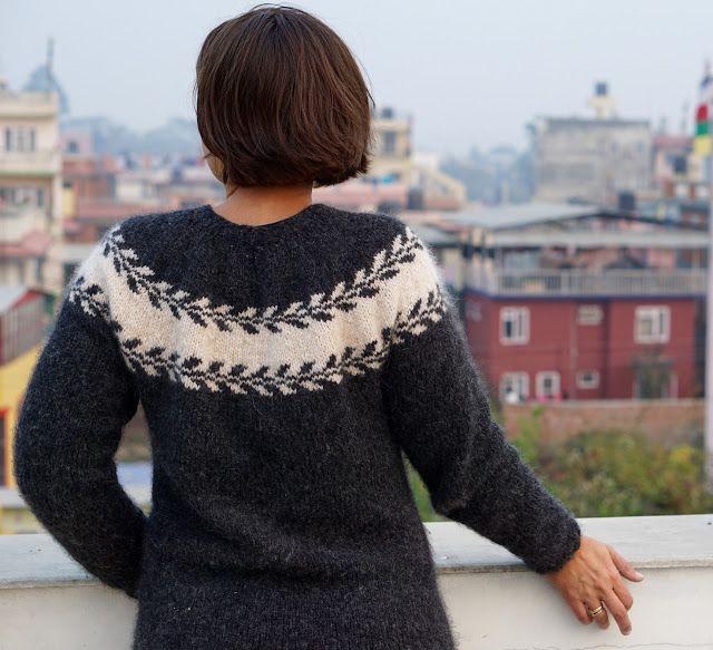 Knitmandu: Nyt år, nyt hår, ny sweater....
