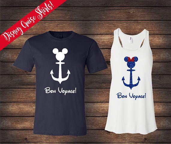 Disney Cruise Shirts  Mickey & Minnie Nautical Shirts