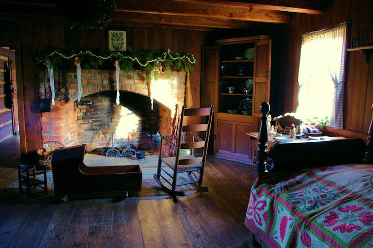 Vance Birthplace Log Cabin Decorated For A 1800s Christmas
