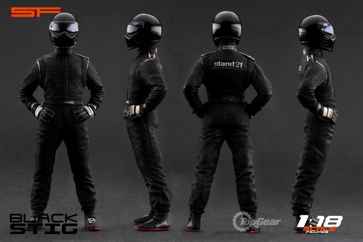 Top Gear Stig Figure - Black by Scale Figures (1:18 scale) $120