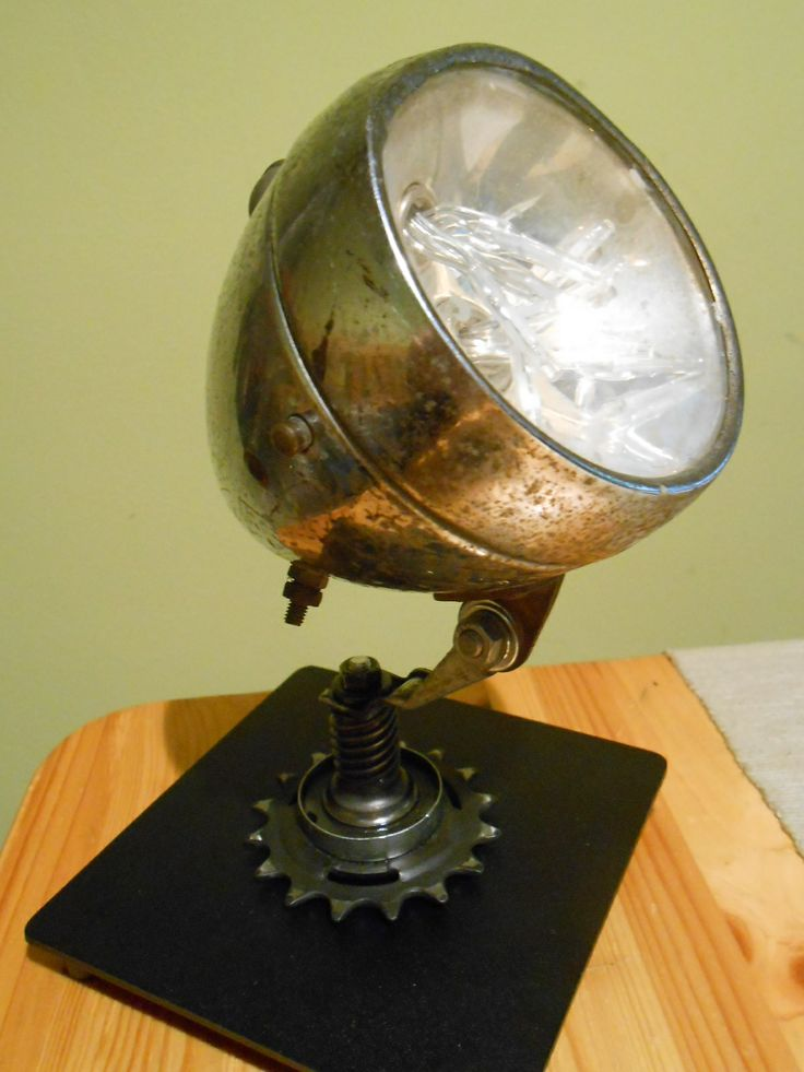old bicycle front lamp