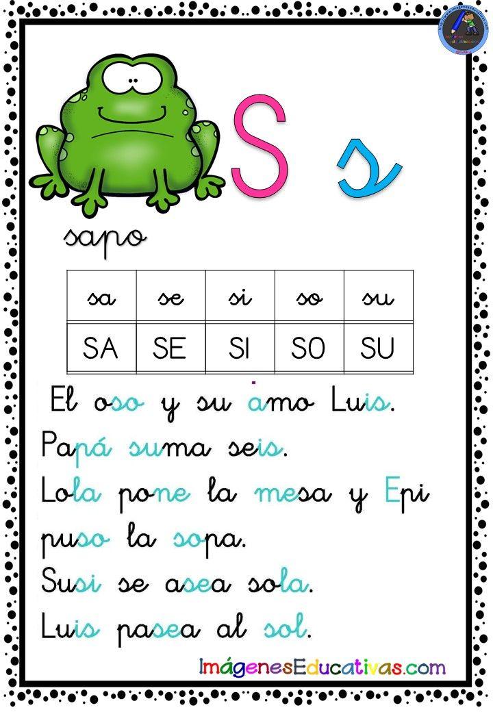 Cartilla De Lectura Letra S 10 Libros De Lectoescritura Lectura Y Escritura Lectoescritura