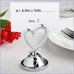 Silver Heart Place Card Holder - Set of 24 $39.95 < 25th Anniversary favors
