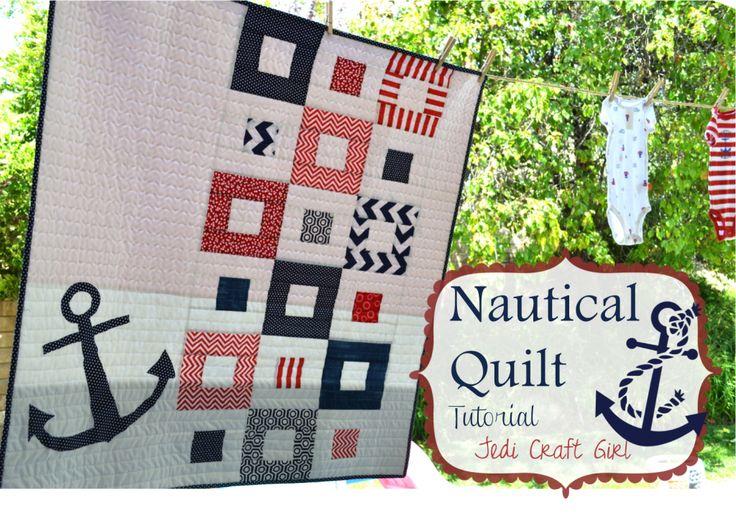 Nautical Baby Quilt - Jedi Craft Girl