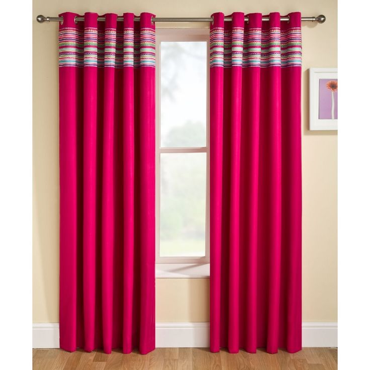 """Enhanced Living®, Siesta, Pink Lined Eyelet Curtains Thermal Blockout, 66"""" x 54"""""""
