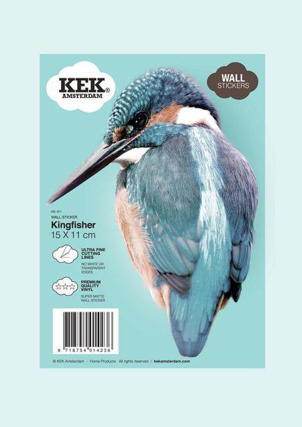 Muursticker blauwe vogel 6,95