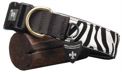 Bellomania (50,5-60 x 4,3 cm) boutique flash halsband zuko zebra zwart/wit BELLOMANIA HB ZUKO ZEBRA 50.560X4.3CM-30