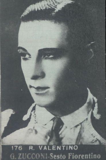 Rodolfo Valentino, ca. 1928; figurina Zucconi